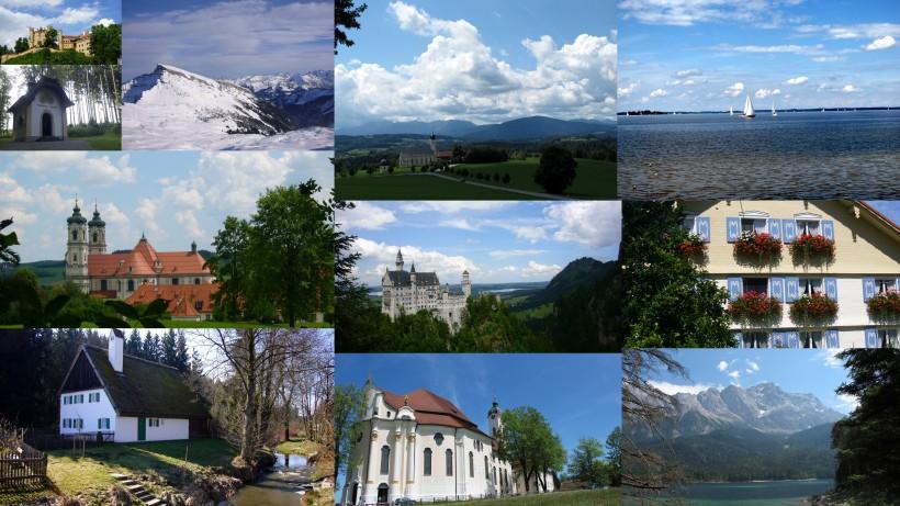 Bayern- so ein schönes Land! Berge, Seen, Schlösser, Kirchen...