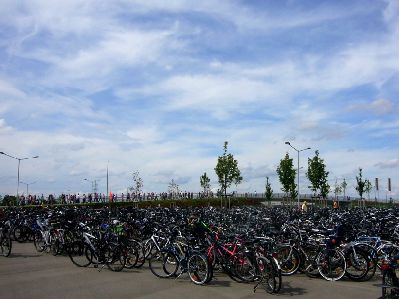 Ich bin immer wieder beeindruckt davon, dass so viele von uns mit dem Fahrrad zur Arena kommen!