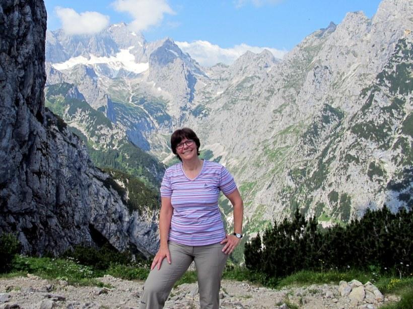 Auf dem Hupfleitenjoch, hinter mir ;-) freier Blick auf die Zugspitze