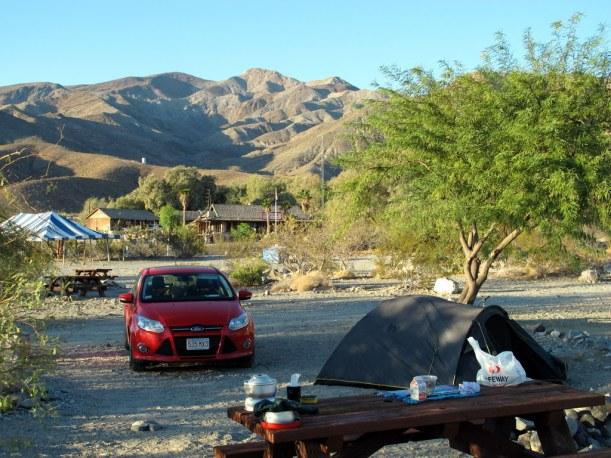 Frühstückszenario im Death Valley