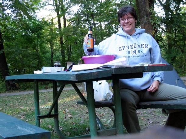 Abends auf einem einsamen, abgelegenen Campground!