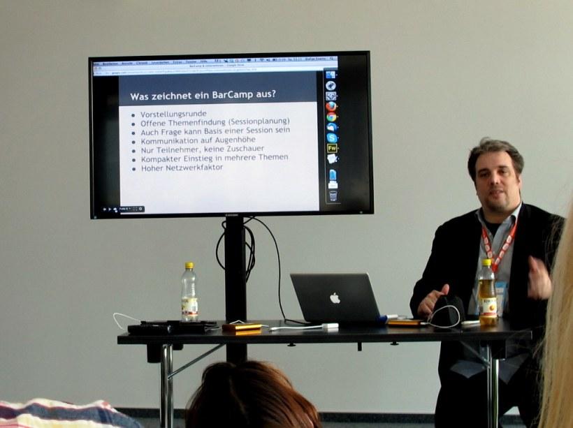 Stefan Evertz auf dem Twittercamp Köln