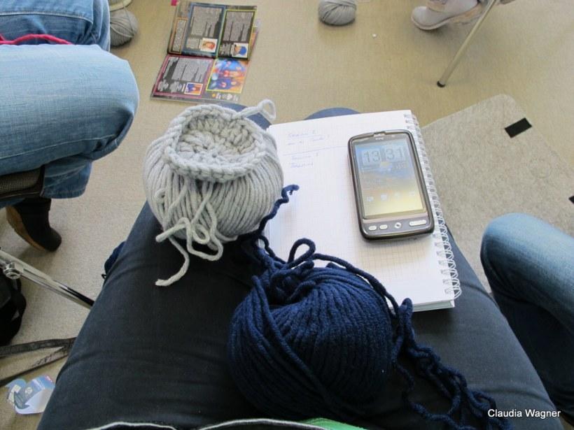 Twittern, stricken, lernen - Multitasking auf dem Yarncamp