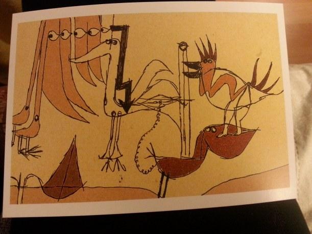 Bei einigen der Postkarten kann man den animierten Klee auch sehen!